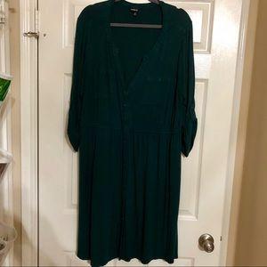 Size 3 - Green Belted Shirt Dress